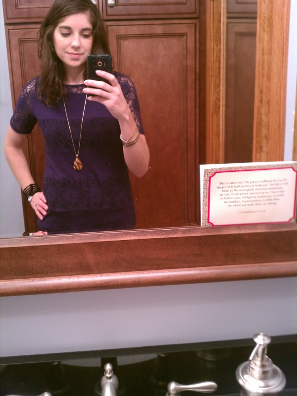 purple lace top
